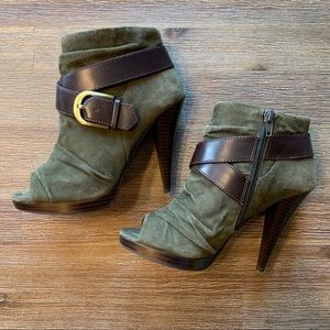Like-New Marco Santi Open-Toe Heeled Bootie
